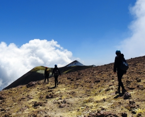 Ascent Mount Etna Peak
