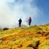 Crossing Etna sulfur