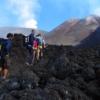 Crossing Etna summit