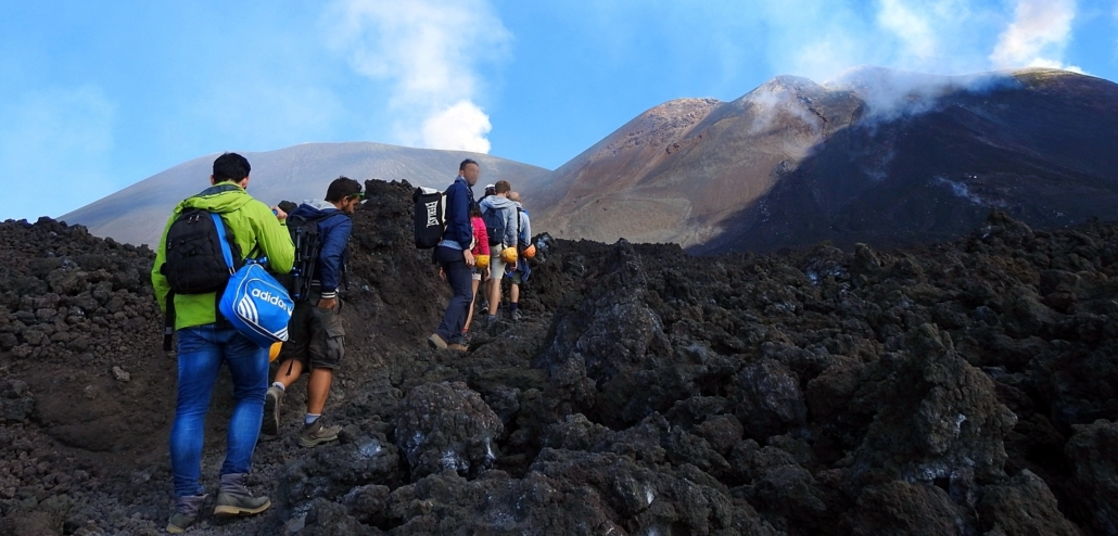 Crossing Etna summit