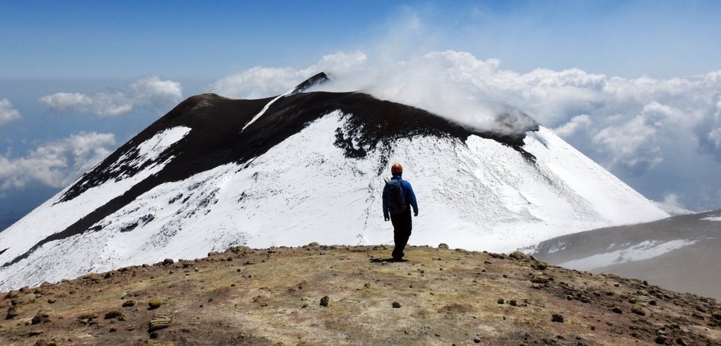Summit hike Etna south crater