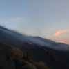 Sunset Etna summit craters